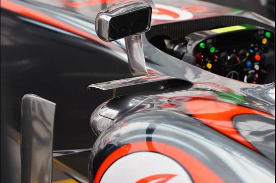 McLaren F1 horizontal flap across the top of the sidepod. Photo: F1.com