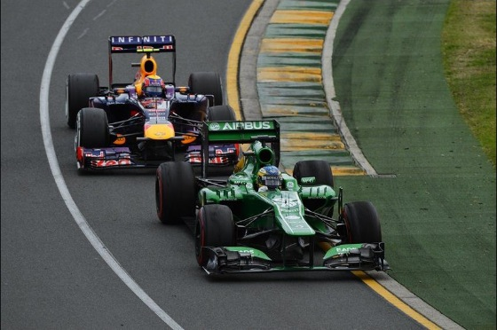Vertical vanes seen on the Caterham and Red Bull. Photo: F1.com