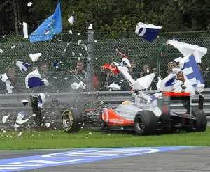 Lewis Hamilton crash