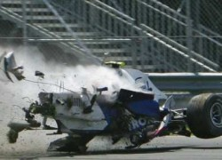 Robert Kubica had a massive side impact crash in Montreal in 2007