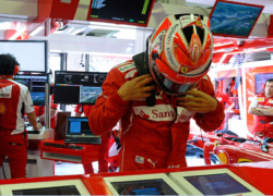 Kimi Raikkonen at the Hungarian GP qualifying