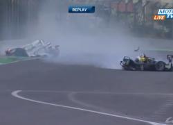 Mark Webber WEC crash Interlagos