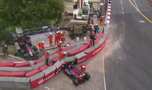 Max Verstappen crash F1 Monaco Grand Prix