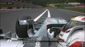 Lewis Hamilton, penalty at the Austrian GP