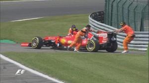 Raikkonen retires from Belgian Grand Prix qualifying