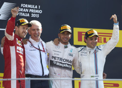 Felipe Massa on the Monza Italian Grand Prix podium