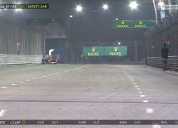 Singapore GP man on track