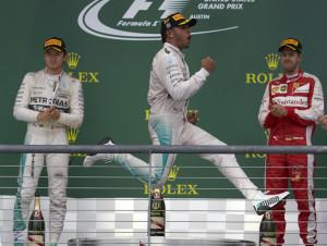 Lewis Hamilton, Nico rosberg, Sebastian Vettel, US Grand Prix