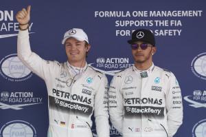 Mexico Grand prix Qualifying - Nico Rosberg, Lewis Hamilton