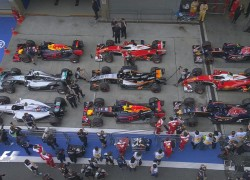 Chinese GP pole qualifying parc ferme
