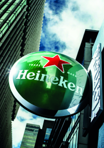Heineken outdoor sign