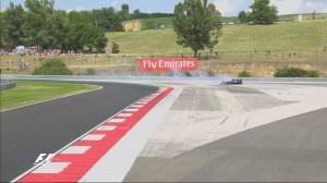 Hungary 2016_Hamilton FP2 Crash