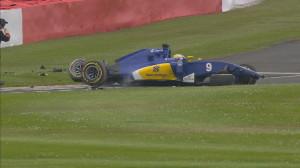Marcus Ericsson_Britain 2016 Crash
