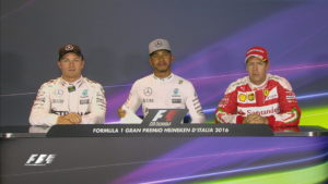 Italian GP top 3 qualifiers